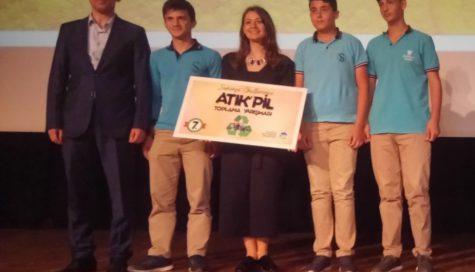 Sakarya Büyükşehir Belediyesi Okullar Arası Atık Pil Toplama Kampanyası Ödül Töreni